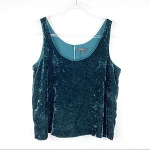 J. Crew Crushed Velvet Tank Top in Green 8